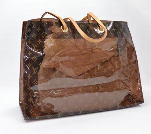 e24ee027f87 Louis Vuitton LOUIS VUITTON Vinyl Monogram Sac Cabas Ambre GM ...