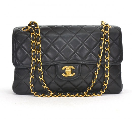 9198f957edd6 Chanel Vintage Chanel Black Quilted Leather 2.55 Double Side Flap ...