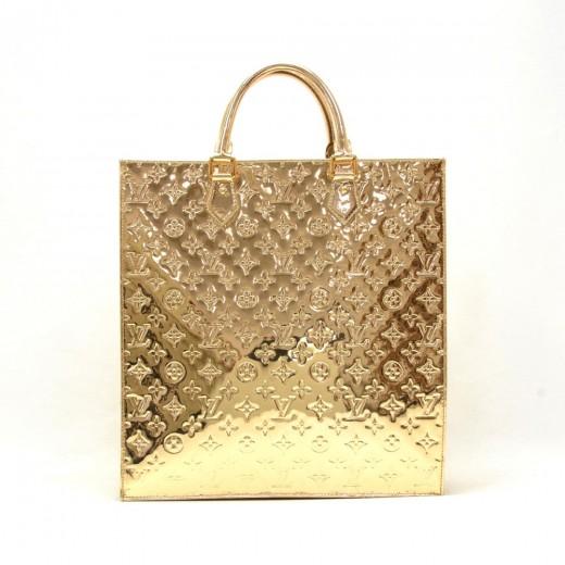 1f972170fee7 Louis Vuitton Sac Plat Gold Monogram Mirror Tote Hand Bag - 2006-2007  Limited