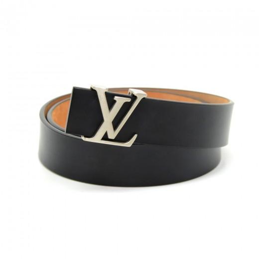 64bb560f20a6 Louis Vuitton Louis Vuitton Ceinture Initiales Black Leather 30mm ...