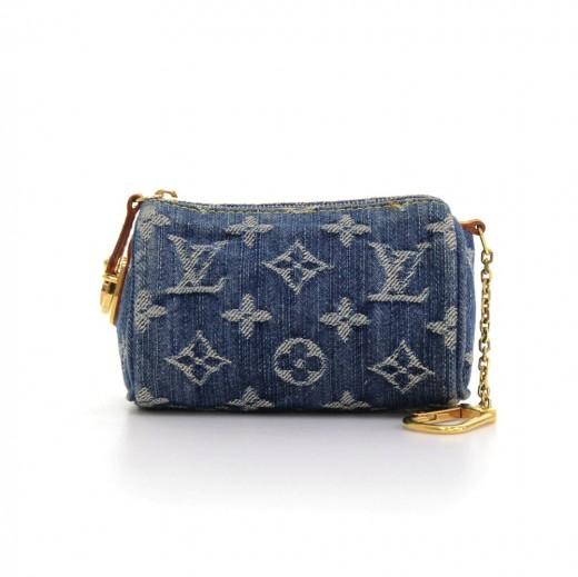 b36ebfce6171 Louis Vuitton Louis Vuitton Mini BB Speedy Monogram Denim Coin Pouch ...