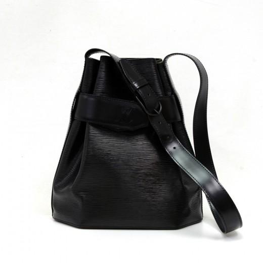 1759758f3a90 Vintage Louis Vuitton Sac D epaule PM Black Epi Leather Shoulder Bag