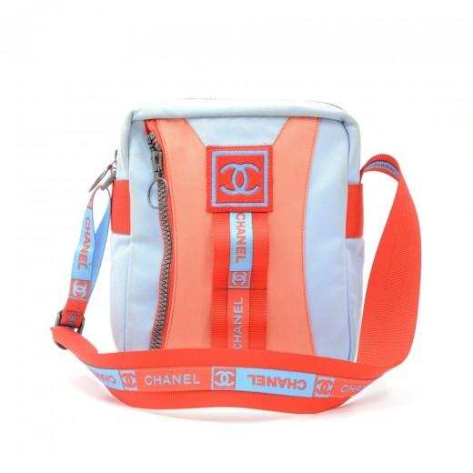 4d8f8fb0c Chanel Chanel Sports Line Red x Blue Canvas Shoulder Bag
