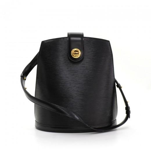 Louis Vuitton Vintage Louis Vuitton Cluny Black Epi Leather Shoulder ... 72350bd9dd744