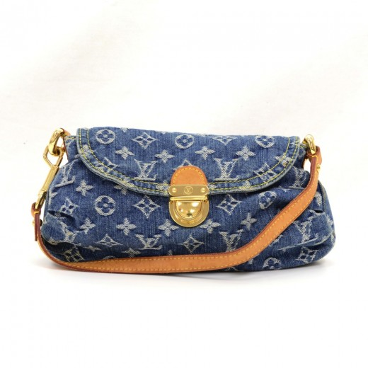 10063bd4ede Louis Vuitton Louis Vuitton Mini Pleaty Blue Monogram Denim Shoulder ...