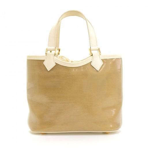 Louis Vuitton Plage Lagoon White Vinyl Mini Beach Tote Handbag Zws5Y