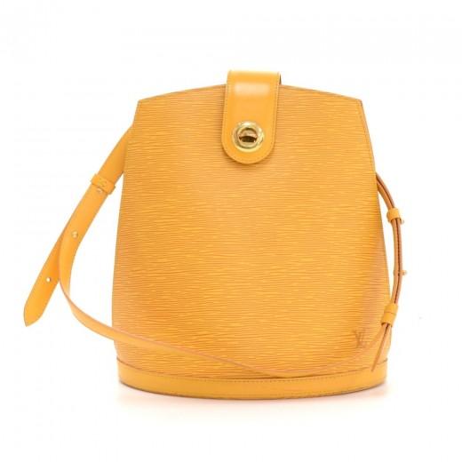 42a9c7e94fb8 Louis Vuitton Louis Vuitton Cluny Yellow Epi Leather Shoulder Bag