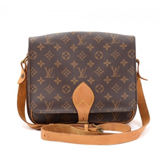 Louis Vuitton Vintage Cartouchiere Mm Monogram Canvas