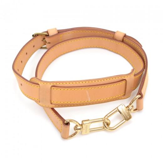 Louis Vuitton Brown Cowhide Leather Adjule Shoulder