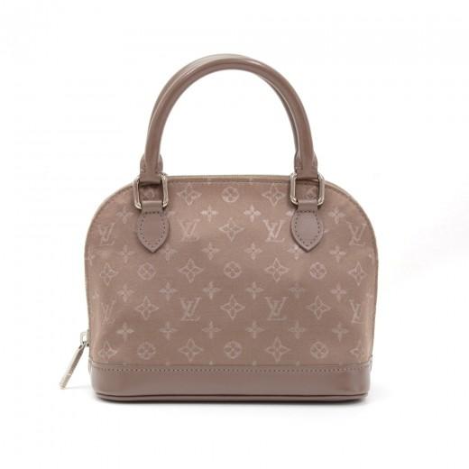 85e3f78aa68d Louis Vuitton Alma Brown Mini Monogram Satin Handbag. Condition  Good