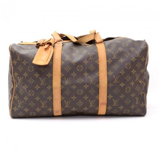 c813a18bb2 Vintage Louis Vuitton Sac Souple 40 Monogram Canvas Duffle Travel Bag