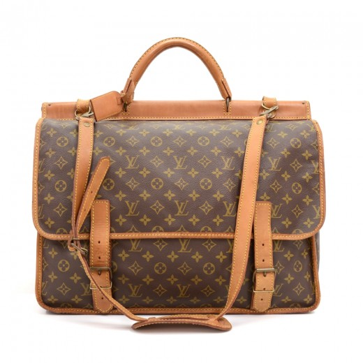 a64f65de478 Louis Vuitton Louis Vuitton Sac Chasse Monogram Canvas Travel Bag + ...