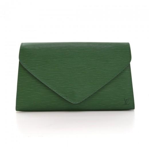23fb3dc49583 Louis Vuitton Louis Vuitton Art Deco Green Epi Leather Clutch Pouch ...