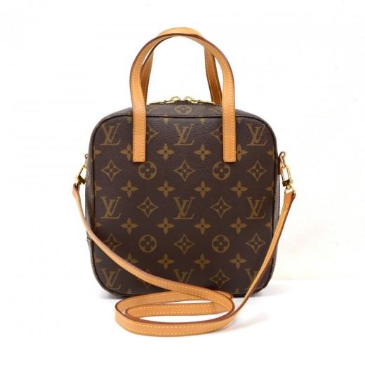 77756616cd37 Louis Vuitton Louis Vuitton Spontini Monogram Canvas Hand Bag + Strap