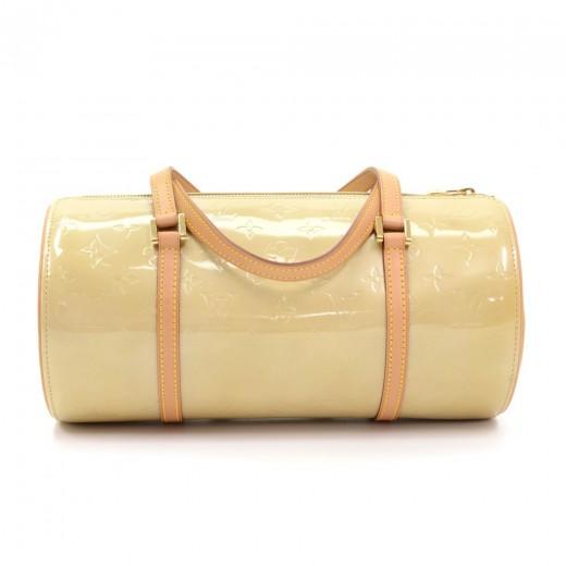78c26ad92fb81 Louis Vuitton Louis Vuitton Bedford Beige Vernis Leather Hand Bag