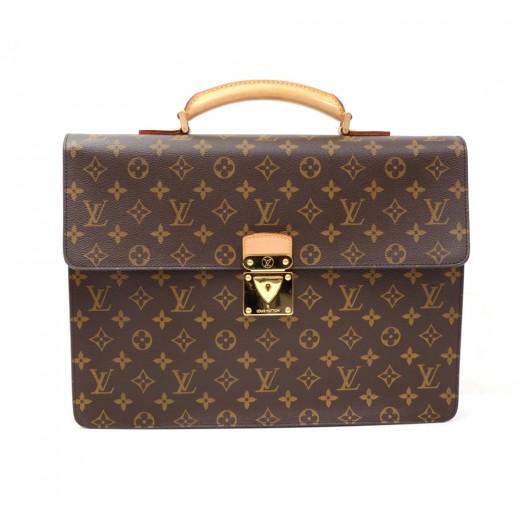d4f3311ceff2f Louis Vuitton Louis Vuitton Laguito Monogram Canvas Briefcase Hand ...