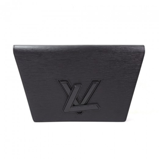 aec23efbba78 Louis Vuitton Vintage Louis Vuitton Trapeze GM Black Epi Leather ...