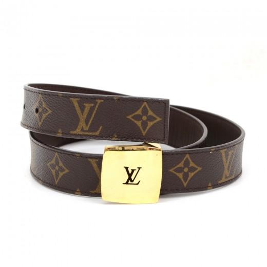 337bd5959bba Louis Vuitton Louis Vuitton Ceinture LV Cut Monogram Canvas Belt ...
