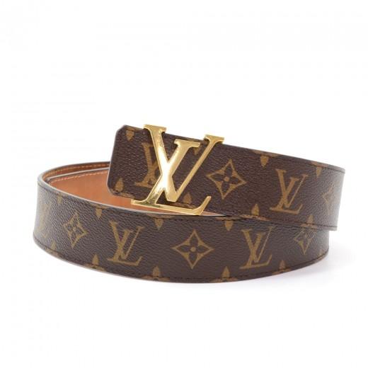 fb3f5ca85373 Louis Vuitton Ceinture LV Initiales 40mm Monogram Canvas Belt Size 85 34