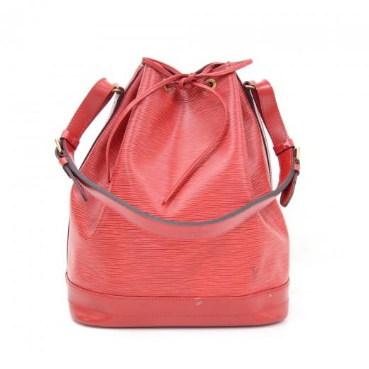 85076f168bb6 Louis Vuitton Vintage Louis Vuitton Noe Large Red Epi Leather ...