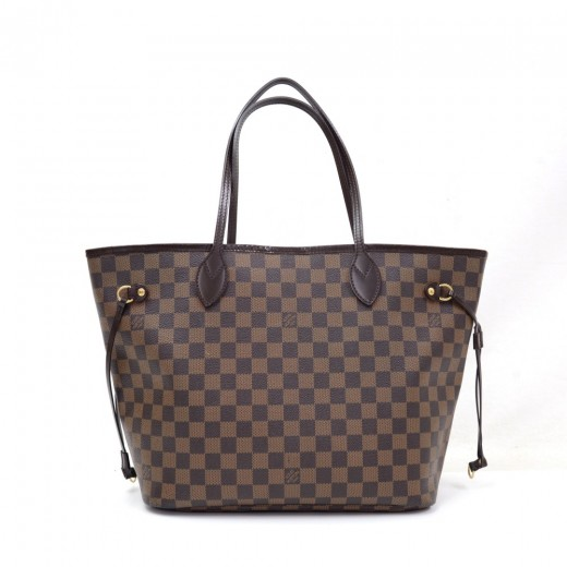 60a964b89 Louis Vuitton Louis Vuitton Neverfull MM Ebene Damier Canvas Shoulder .