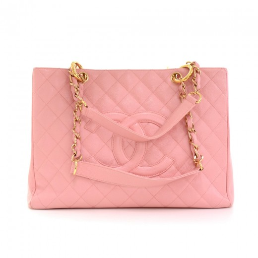 49d27161ffee Chanel Chanel GST Pink Quilted Caviar Leather Large Grand Shopping ...