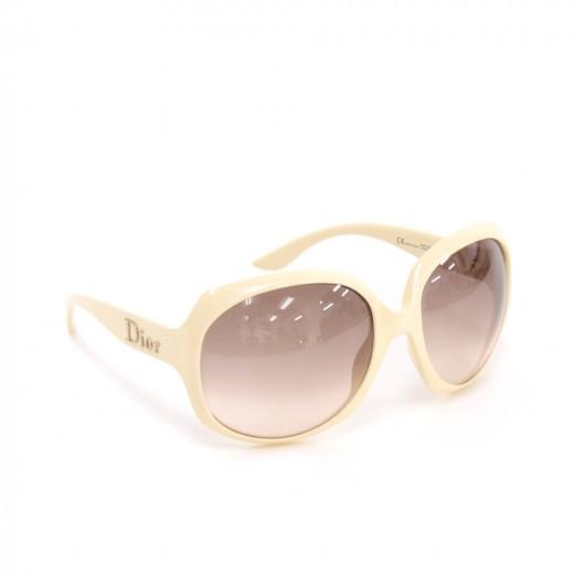a104468565cf Dior Christian Dior Glossy 1 N5A02 White Sunglasses + Case