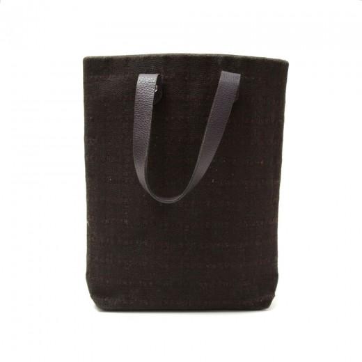 Hermes Hermes Ahmedabad PM Dark Brown Cotton Tote Hand Bag.
