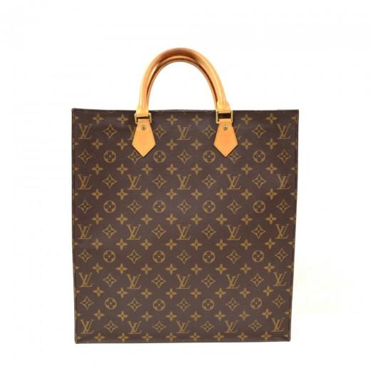 c9f9d189e326 Louis Vuitton Louis Vuitton Sac Plat Monogram Canvas Tote Hand Bag