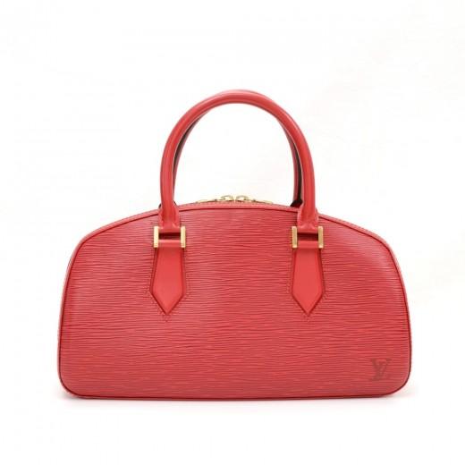 d86d9533a3bc Louis Vuitton Louis Vuitton Jasmin Red Epi Leather Hand Bag