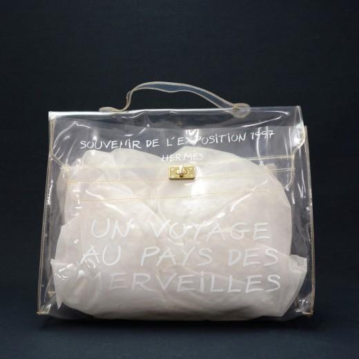 76dbc68e6055 Hermes Hermes Kelly 1997 Clear Vinyl Exposition Souvenir Hand Bag