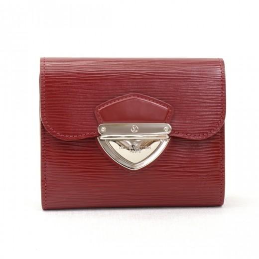 2d4e60313fb3 Louis Vuitton Louis Vuitton Red Epi Leather Portefeuille Joey Wallet ...
