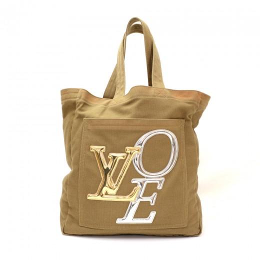 726eb19c967 Louis Vuitton Louis Vuitton That's Love Canvas Mirror Love Tote MM ...