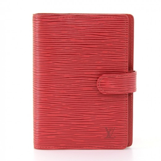 e4a98aadbe8bc Louis Vuitton Louis Vuitton Agenda PM Red Epi Leather Agenda Cover