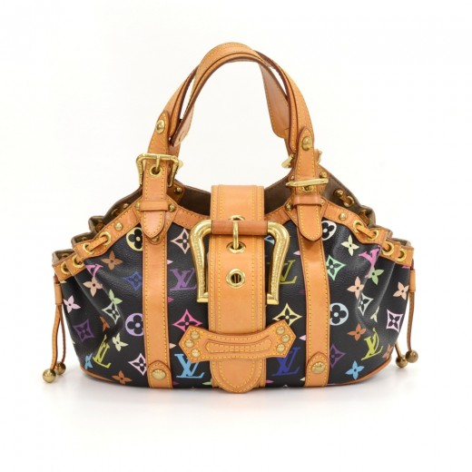 ce6d3871e4f4 Louis Vuitton Louis Vuitton Theda PM Black Multicolor Monogram ...