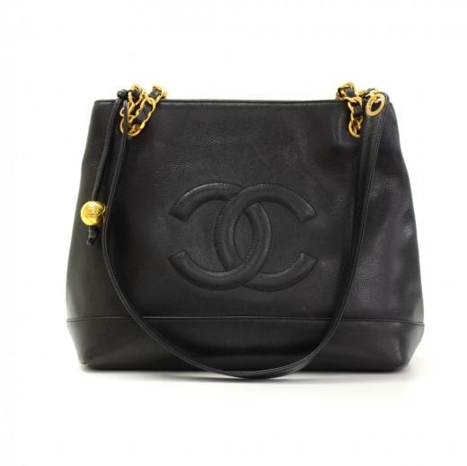8592d8d964579 Chanel Black Caviar Leather Handbag - Handbag Photos Eleventyone.Org