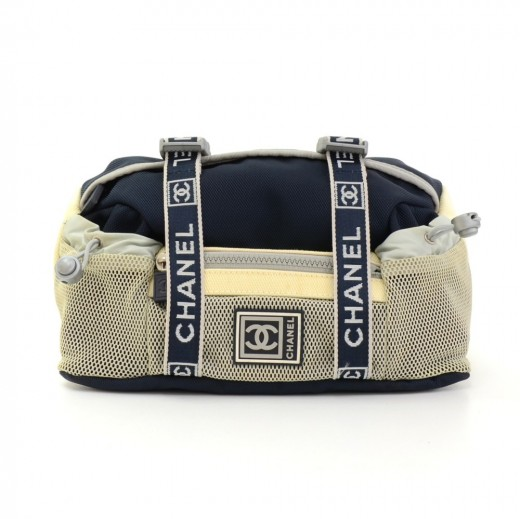 11156a161990 Chanel Chanel Sports Line Navy x White Nylon Waist Pouch Bag