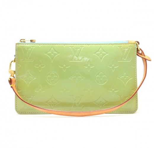 a6580730e7c2 Louis Vuitton Louis Vuitton Green Vernis Leather Lexington Handbag