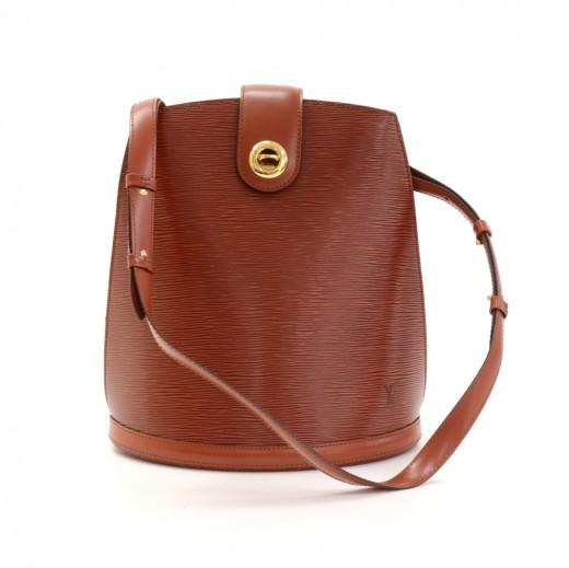 f1eea23f1af3 Vintage Louis Vuitton Cluny Kenyan Fawn Brown Epi Leather Shoulder Bag