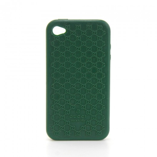 newest 0eecf 56170 Gucci Gucci Green Rubber iPhone 5 Case