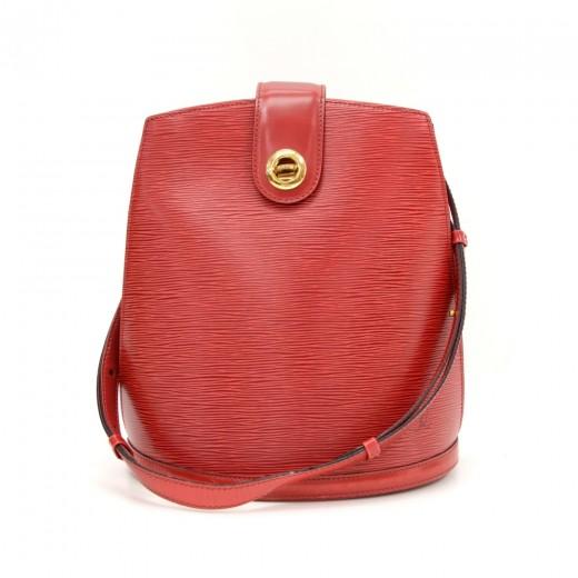a4774af771a2 Louis Vuitton Vintage Louis Vuitton Cluny Red Epi Leather Shoulder ...