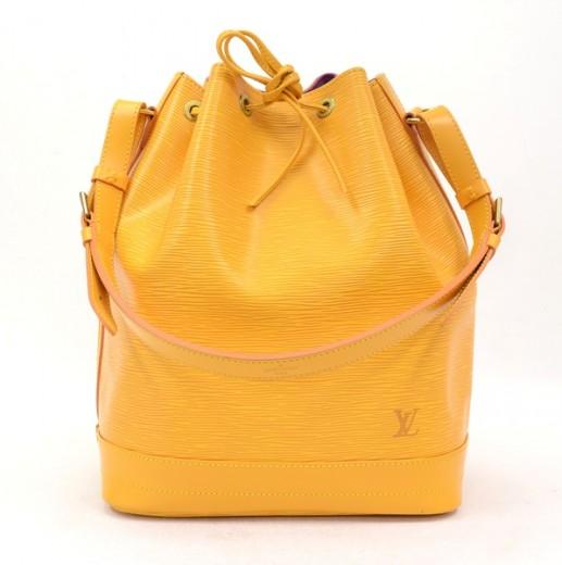 b4c9e18b3415 Louis Vuitton Louis Vuitton Yellow Epi Leather Noe Shoulder Bag