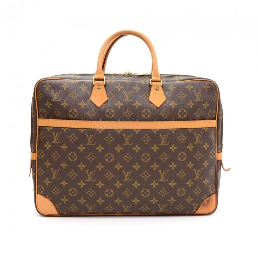 5b1f119ec7e Louis Vuitton Porte Documents Voyage 2 Poches Monogram Canvas Briefcase Bag