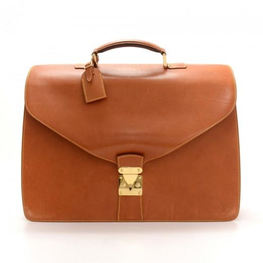 bbe1d573aa8e Louis Vuitton Louis Vuitton Atacama Brown Nomade Leather Briefcase ...