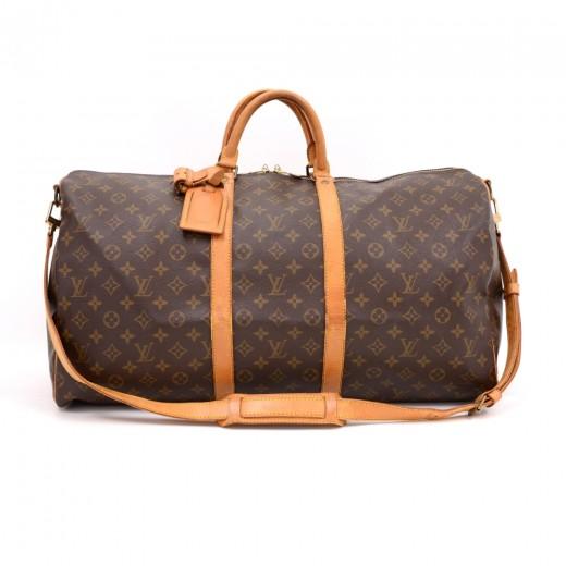 df0cbdd03da7 Louis Vuitton Vintage Louis Vuitton Keepall 55 Bandouliere Monogram ...