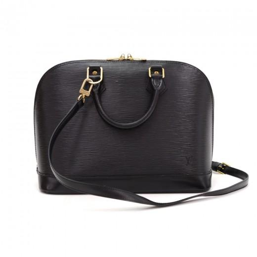 d657dbaee456 Louis Vuitton Louis Vuitton Alma Black Epi Leather Hand Bag +Strap