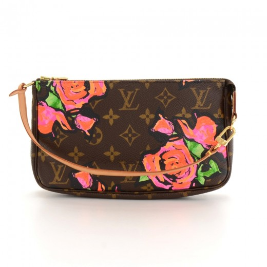 54d00f389342 Louis Vuitton Pochette Accessories Stephen Sprouse Rose Monogram Hand Bag  Limited