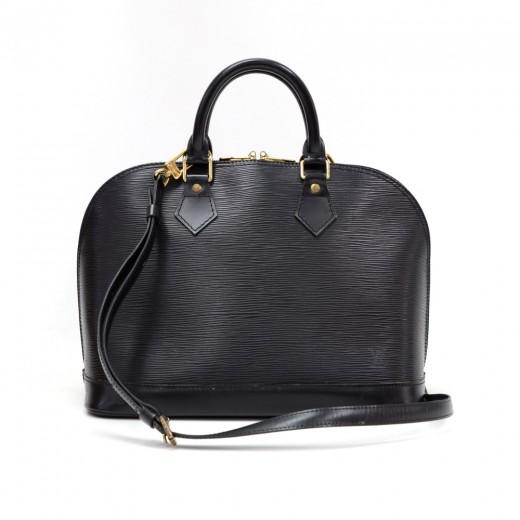 32e7a9a1b5c4 Louis Vuitton Louis Vuitton Alma Black Epi Leather Hand Bag + Strap