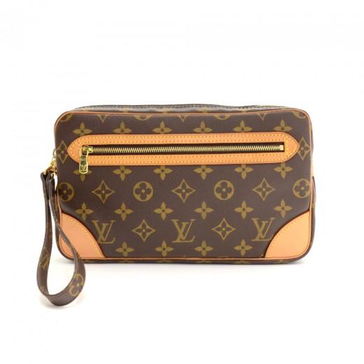 14bd65640 Louis Vuitton Pochette Marly Dragonne GM Monogram Canvas Wristlet Bag.  Condition: Excellent /
