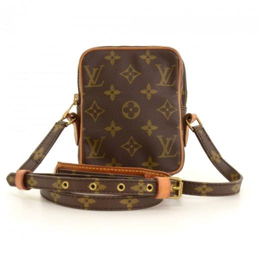 8bc806076b47 Vintage Louis Vuitton Mini Danube Monogram Canvas Shoulder Pochette Bag